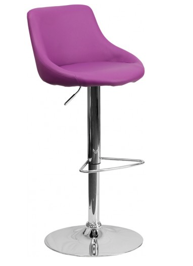 contemporary-purple-vinyl-bucket-seat-adjustable-height-bar-stool-w-chrome-base
