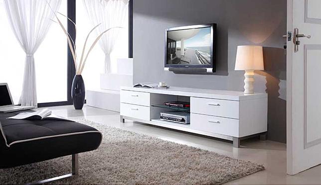 White Natasha TV Stand Modern