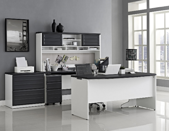 top 6 modern dark office suites cute furniture. Black Bedroom Furniture Sets. Home Design Ideas