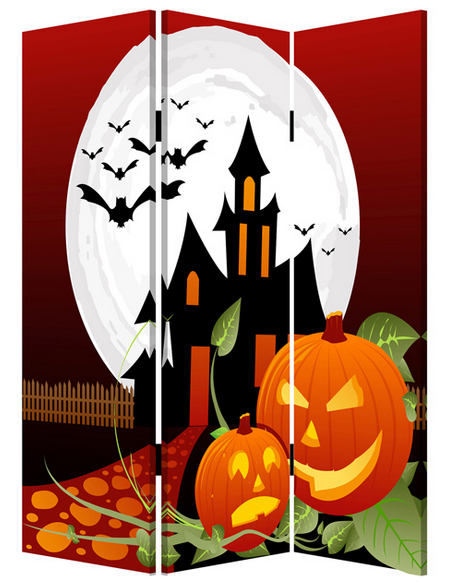# panel canvas Halloween