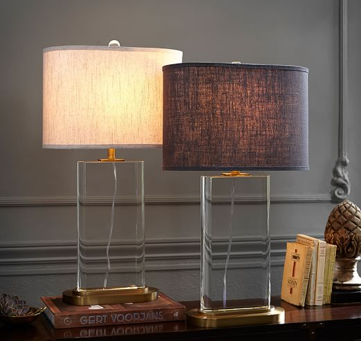 Beautiful Crystal Buffet Table Lamp