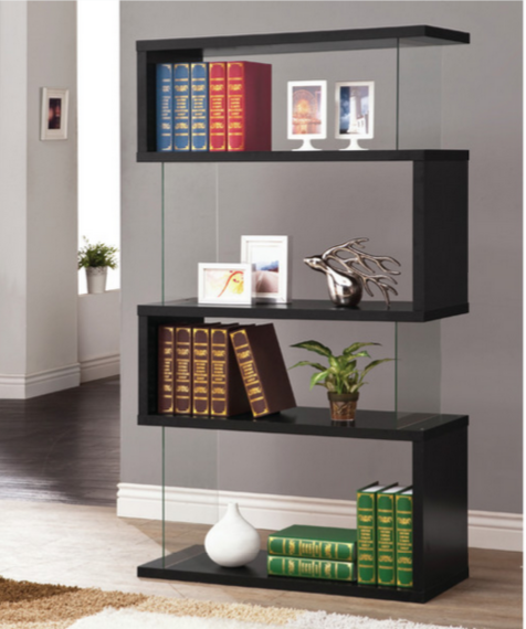 Modern Black Bookcase Wildon Home