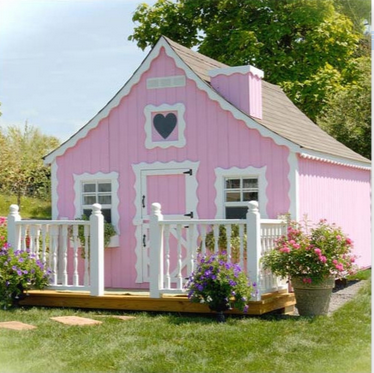 Pink Cottage Playhouse For A Girl