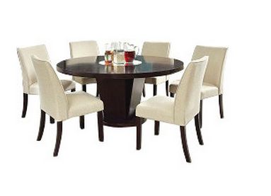 9 dark round dining tables for a contemporary dining room - cute Cute Dining Table