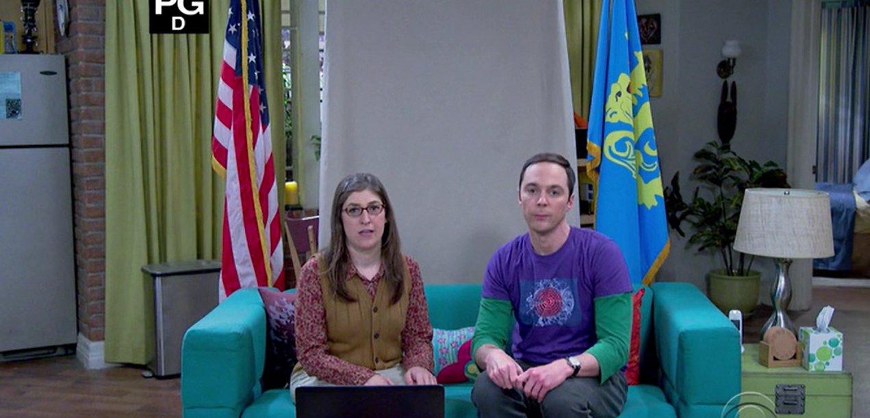 sheldon-and-amy-fun-with-flags