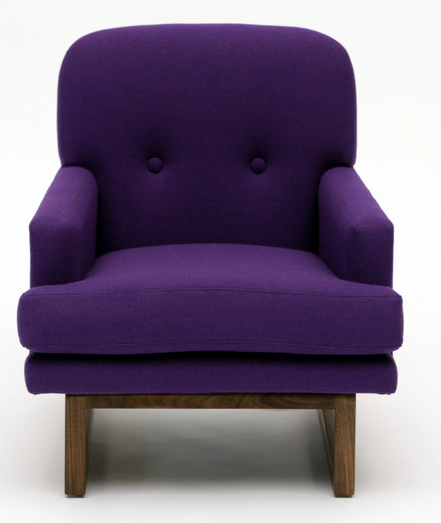 7 contemporary purple arm chairs for your living room for Cute living room chairs