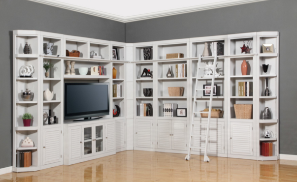 White Bog Boca Library Bookcase