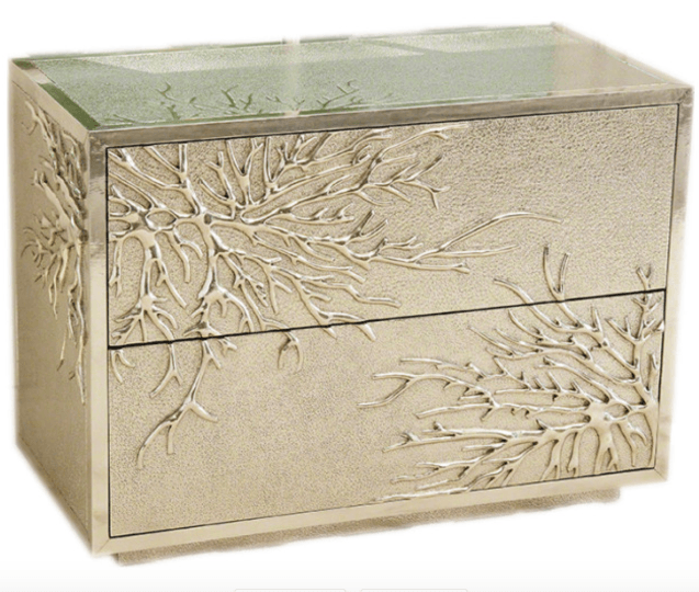 luxe-modern-silver-coral-branch-accent-chest