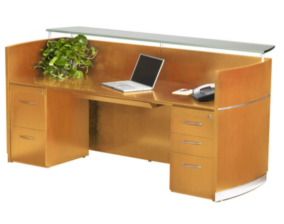 Mayline Napoli Ultra Modern Reception Desk
