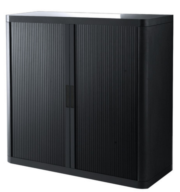 Black Office Storage Cabinet With Doors