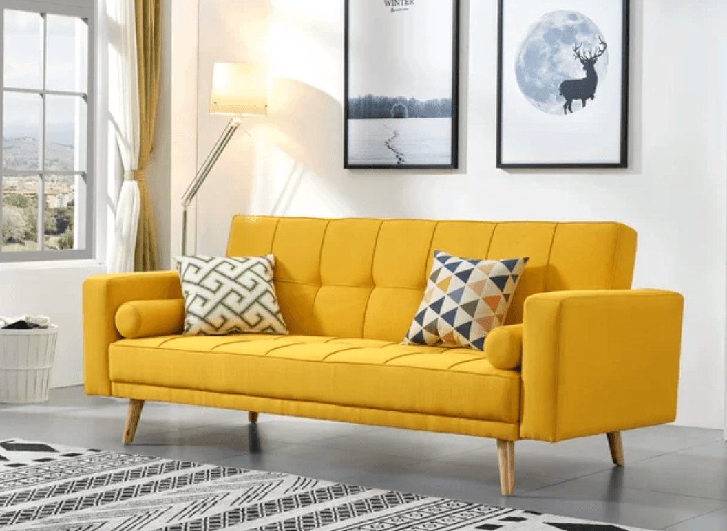 yellow-sleeper-sofa
