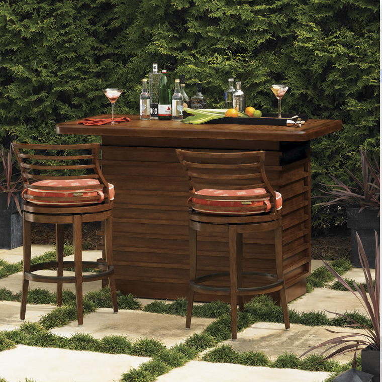 Dark brown Pacifica Outdoor Bar set