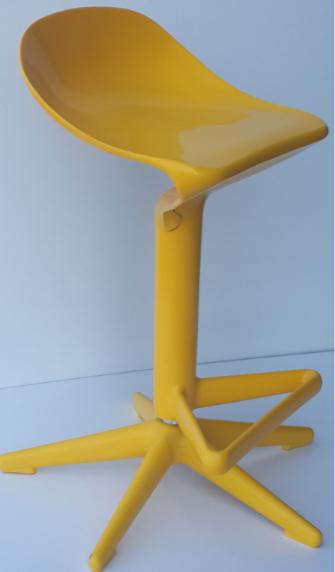 Bienal Spoon Adjustable Height Bar Stool