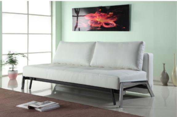 7 modern white convertible futons
