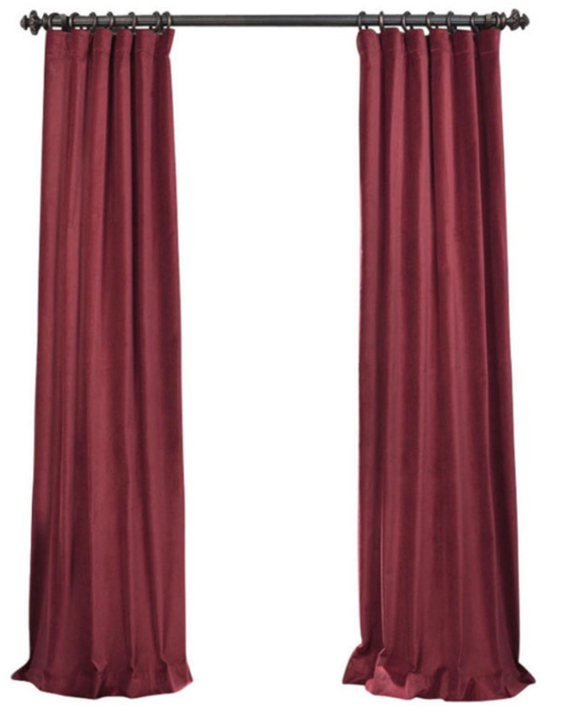 luxury-velvet-curtain-panels-red