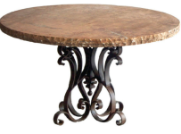 most-expensive-round-iron-base-dining-table-with-marble-top-mediterranean