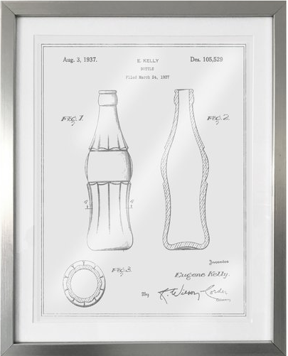 coca-cola-bottle-1937-framed-graphic-art