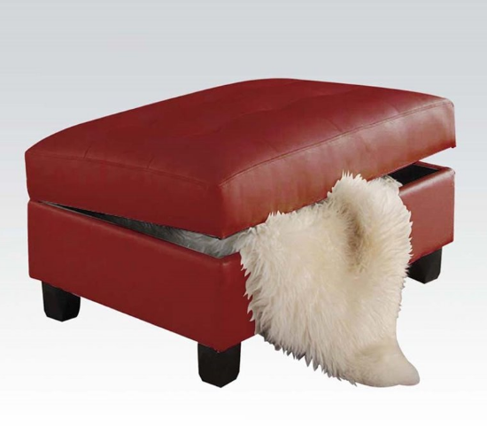 kiva-bonded-leather-storage-ottoman - 7 Stylish Leather Ottomans In Red - Cute Furniture