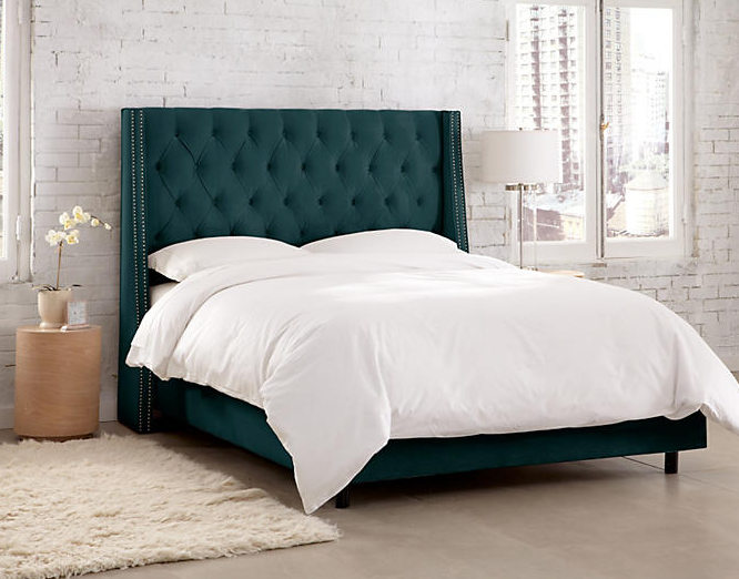 sophia-wingback-bed-peacock-velvet