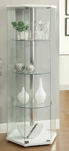 coaster-glass-hexagon-curio-cabinet-in-white