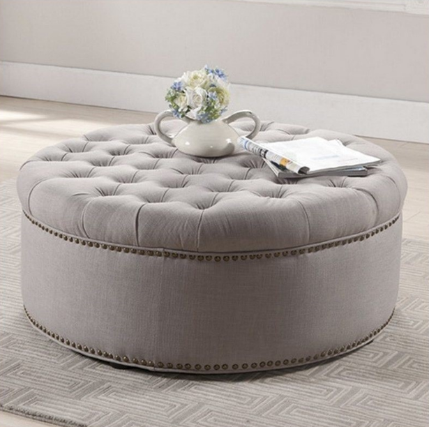 Top 7 Beige Round Tufted Cocktail Ottomans For Stylish