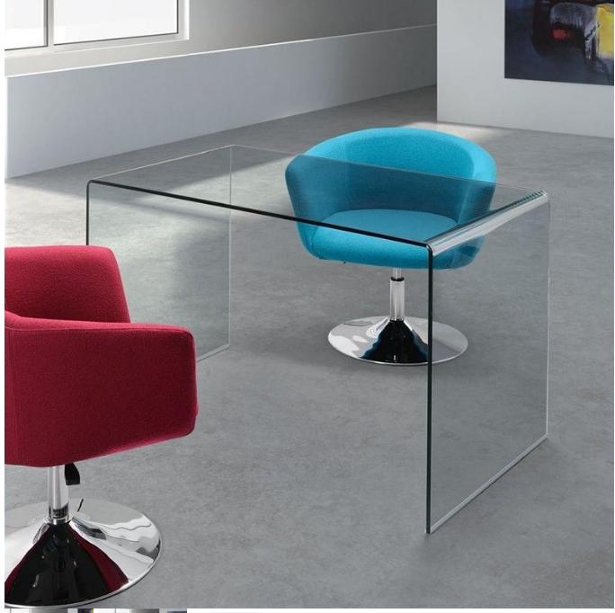 Clear Glass Office Desk