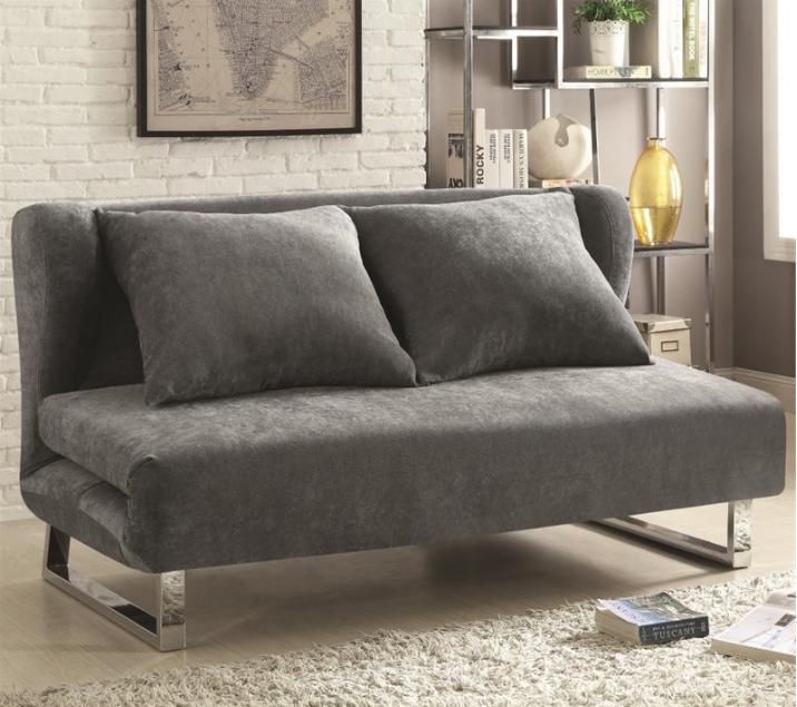 coaster-convertible-sofa-in-gray