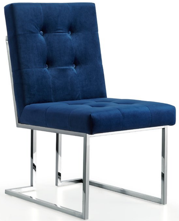 8 Elegant Velvet Dining Chairs In Navy Blue Cute Furniture