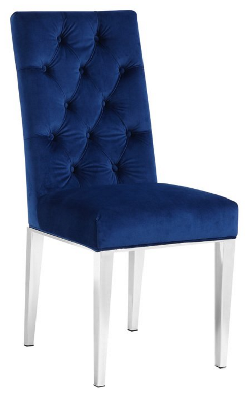 Everly Quinn Marshall Velvet Parsons Chair