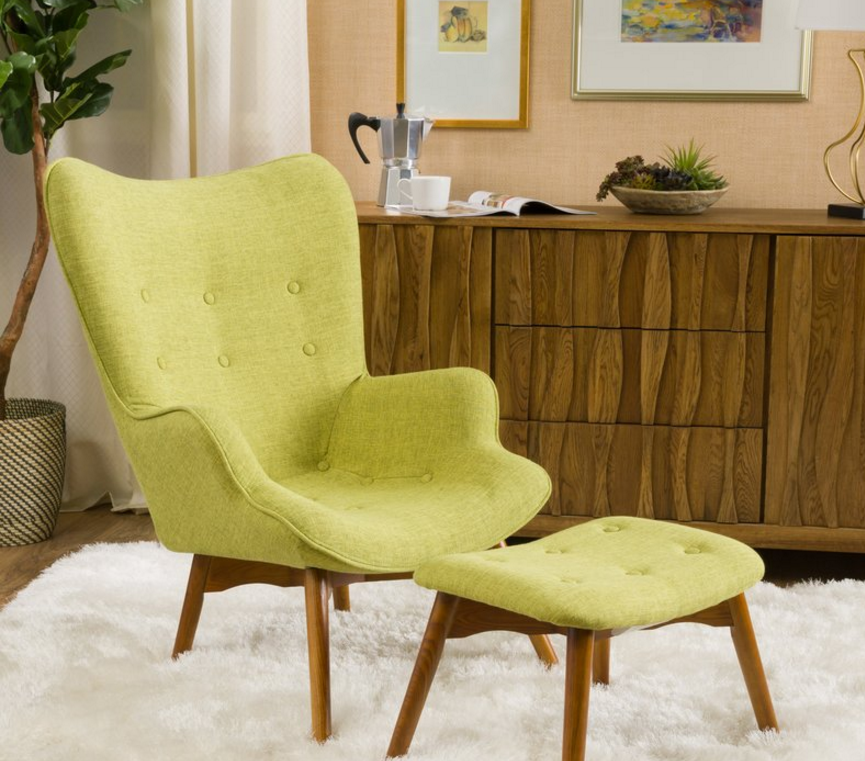 Langley Street Canyon Vista Mid Century Wingback Chair