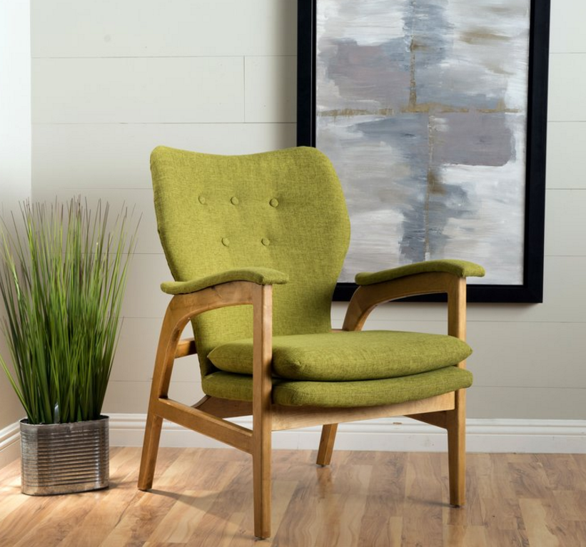 Lime green accent chair finest full size of mint green for Cute black chairs