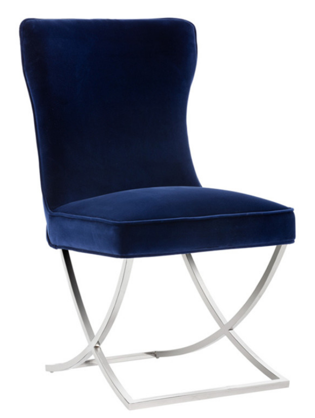 8 elegant velvet dining chairs in navy blue cute furniture for Dining room velvet chairs