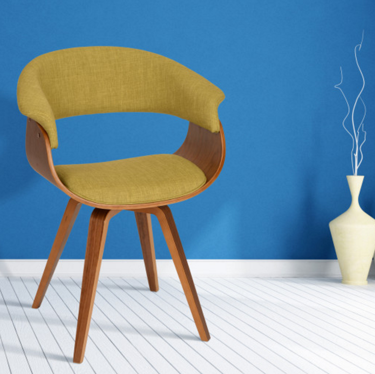 summer-modern-chair-in-green-fabric-and-walnut-wood
