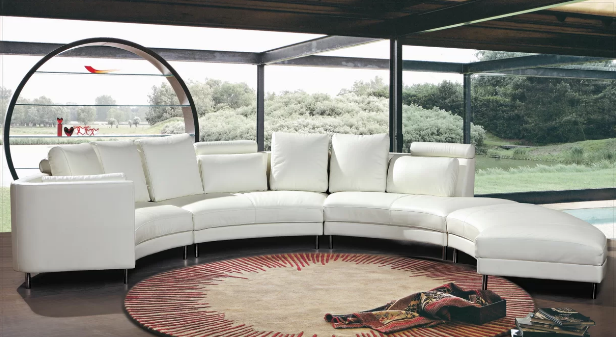 7 White Curved Sectionals For A Modern Living Room Cute