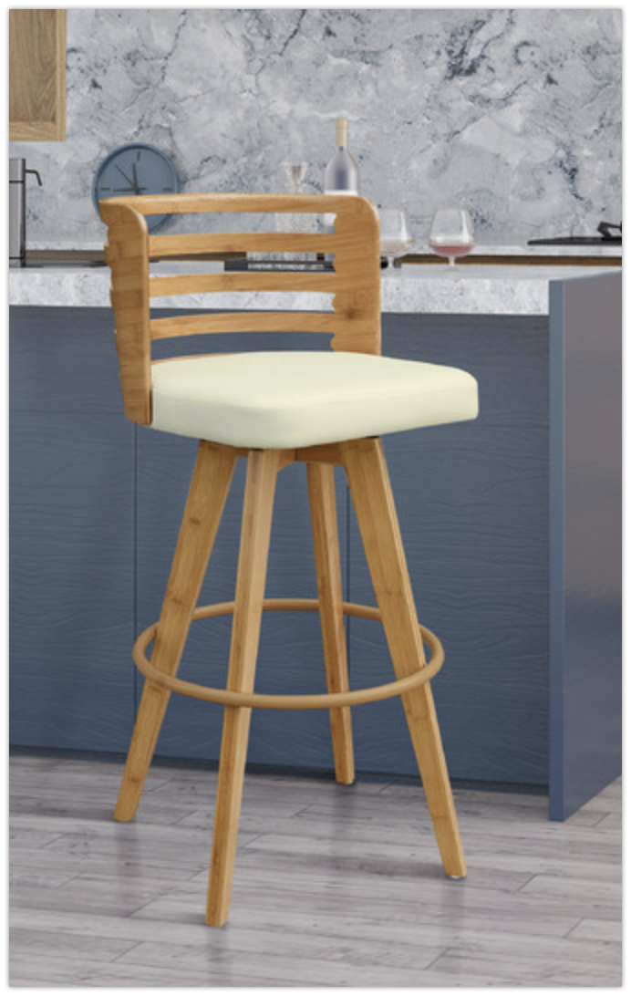 Sensational 8 Elegant Beige Bar Stools For Mid Century Modern Home Machost Co Dining Chair Design Ideas Machostcouk