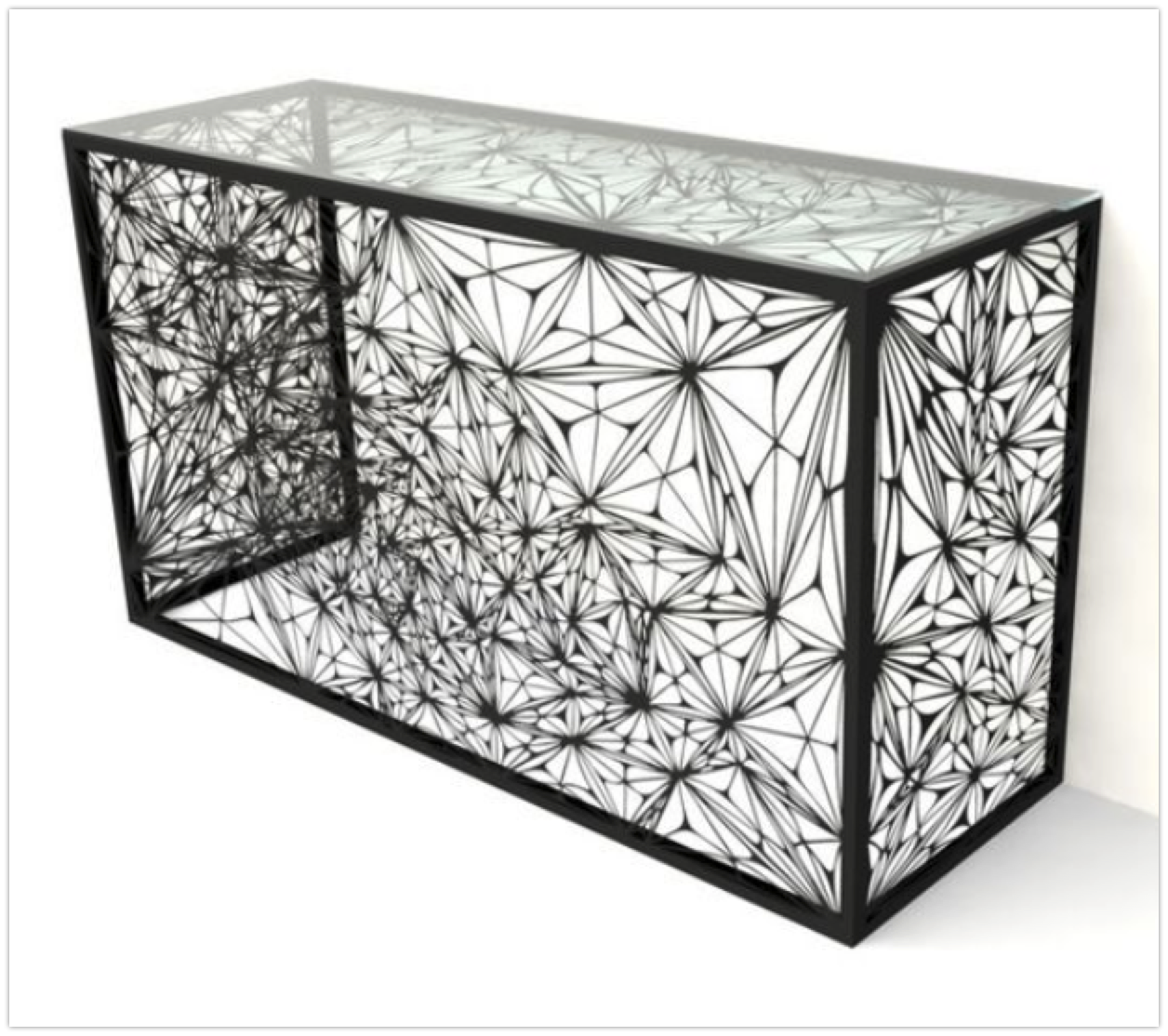 modern-metal-black-console-table-with-ornate-pattern