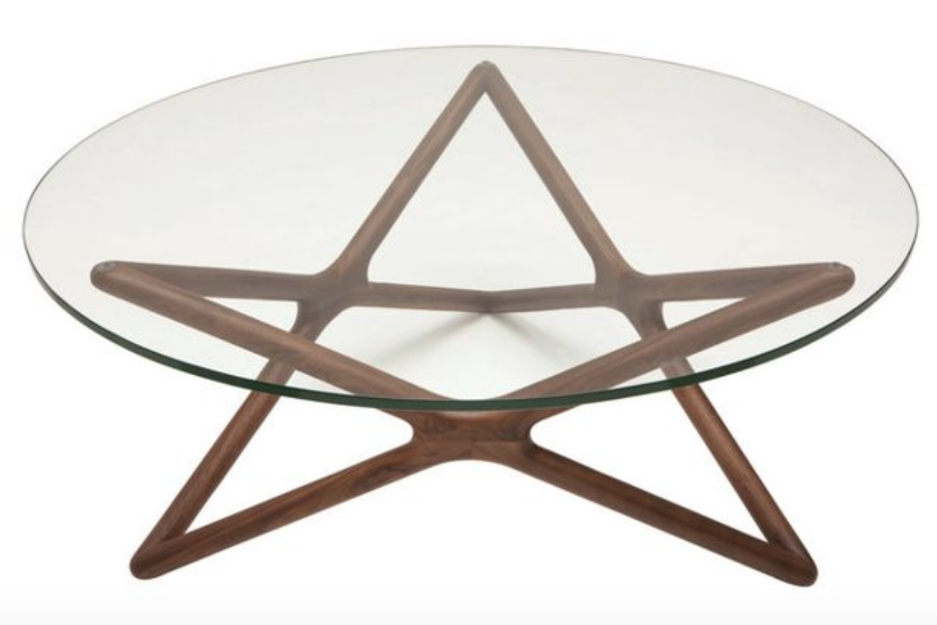 star-glass-top-coffee-table