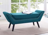 midcentury-modern-blue-bench-ottoman