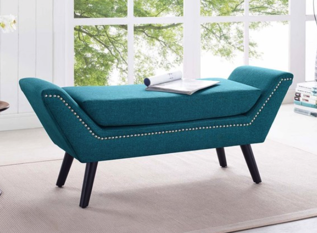 8 Gorgeous Blue Bench Ottomans For Contemporary Living Room ...