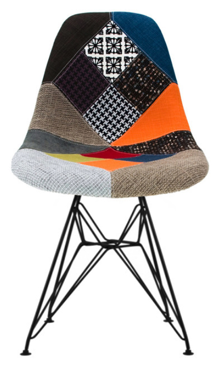 fabric-patchwork-side-chair-black-eiffel-wire-dining-chrome-metal-set-of-2-multi