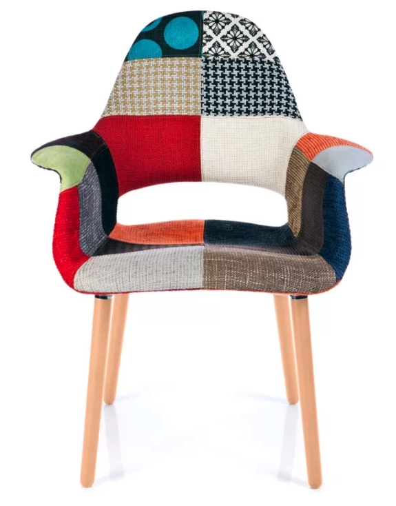 Patchwork Midcentury Dining Chair