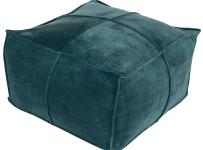 cotton-velvet-cotton-pouf-in-teal-color
